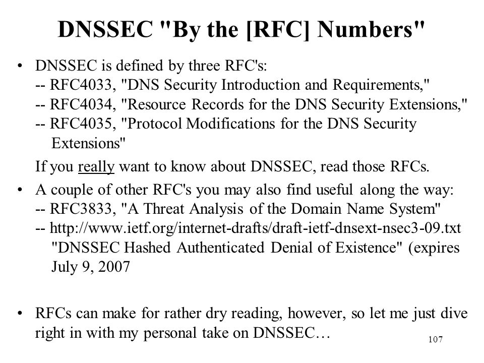 DNSSEC By the [RFC] Numbers